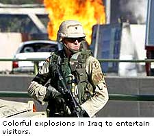 Colorful Explosion In Iraq To Entertain Visitor
