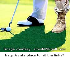 Iraq: A safe place to hit the links?